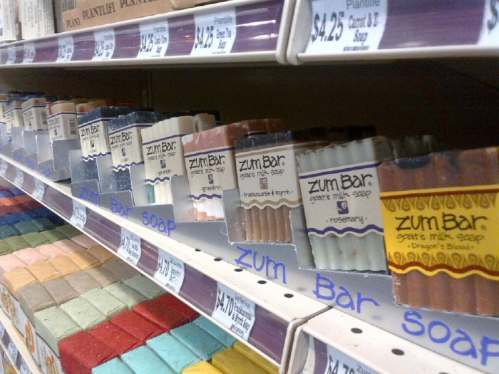natural soap at Rainbow