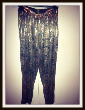 Gold lame trousers vintage