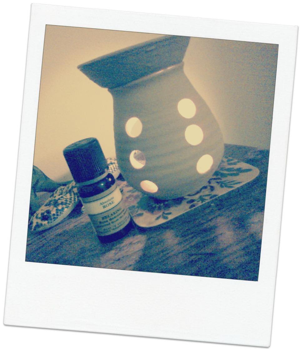 NYR aromatherapy rose oil burner
