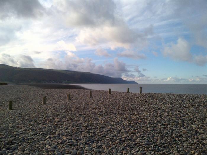 Allerford coast pebble beach, Somerset