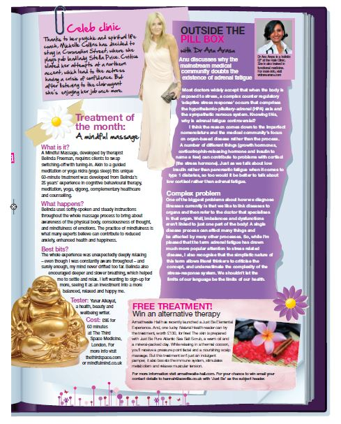 Treatment of the month - Mindful Massage