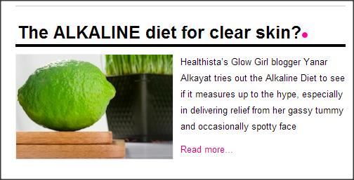 Healthista.com alkaline diet yanar alkayat