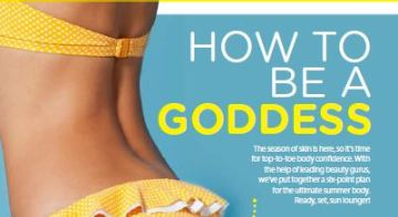 How to be a beach goddess women's fitness July issue
