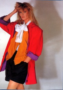 Nancy Donahue in fab 80s clothes