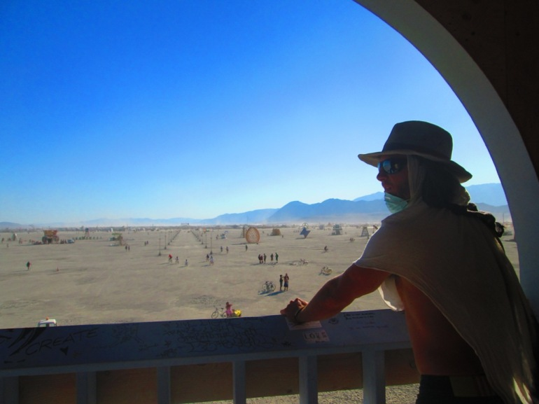 Burning Man 2012 A view of the Playa