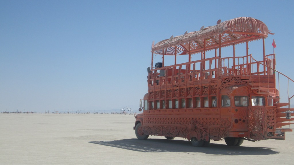 Burning Man 2012 Jump aboard the red bus