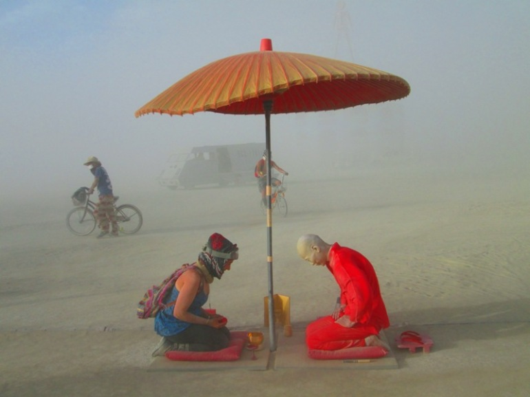 Burning Man Japanese Tea Ceremony 2012