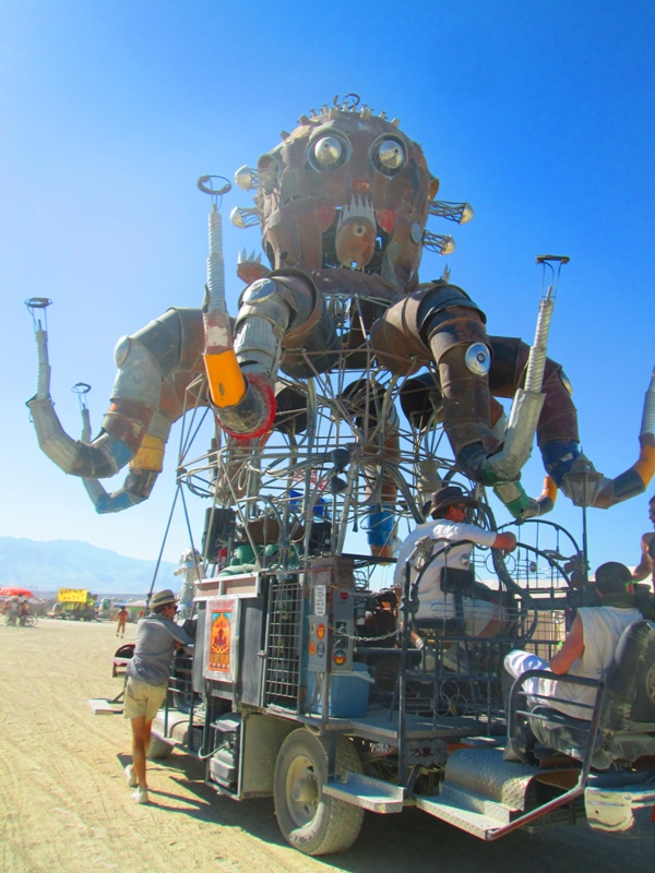 Burning Man Octupus Art Car 2012