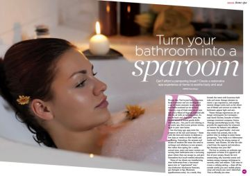 Health and Fitness magazine, Jan 2014 Spa at home, Yanar Alkayat