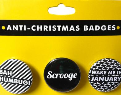I hate christmas badges on brightershadeofgreen