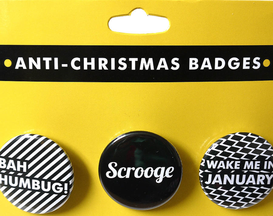 I hate christmas badges on brightershadeofgreen