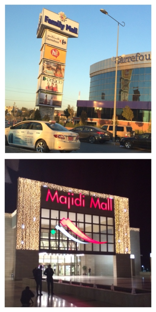 Family and Majidi Mall in Erbil, Kurdistan, Iraq