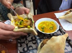 Local falafel in Ainkawa, near Erbil, Iraq, Kurdistan