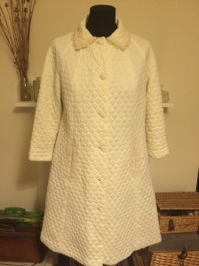 1960s cream coat from Anchors Aweigh Vintage