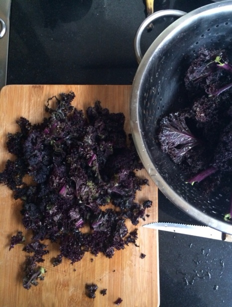 What to do with purple kale?