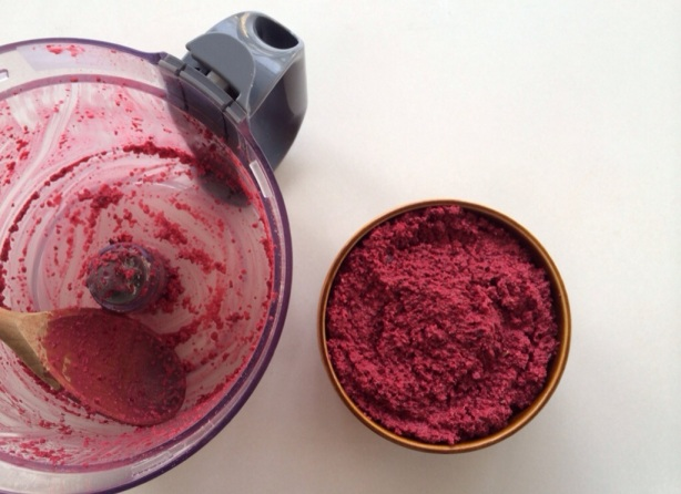 It can get messy - raw beetroot and walnut dip.jpg
