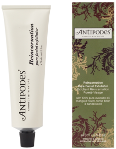 Best Natural Cleansers Antipodes-Reincarnation-Exfoliator on Brighter Shade of Green