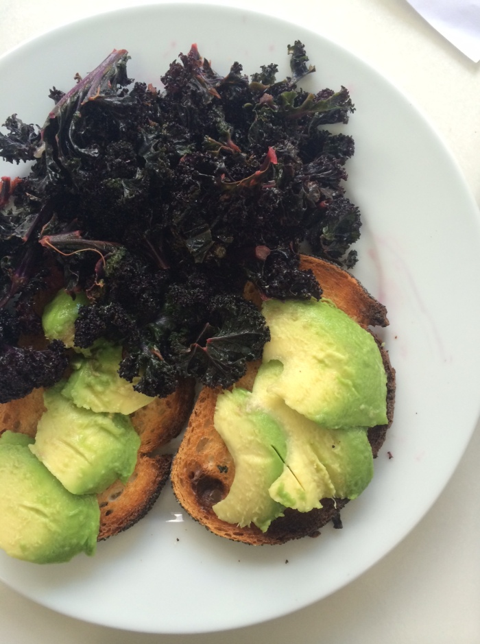 How to cook kale - with avocado on toast