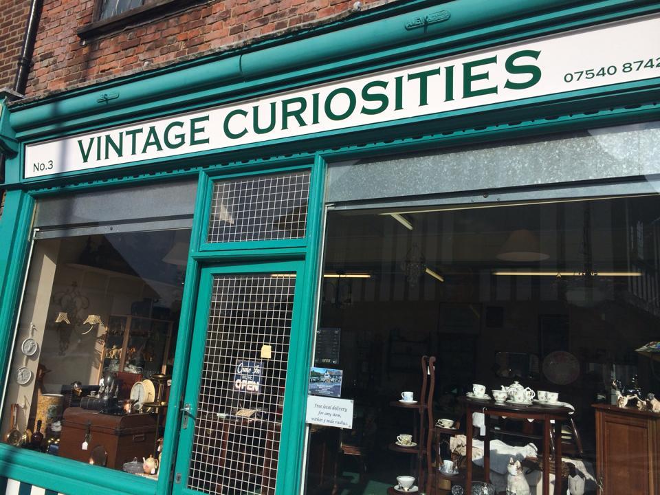 Vintage Curiosities antique shop in Sandwich, Kent