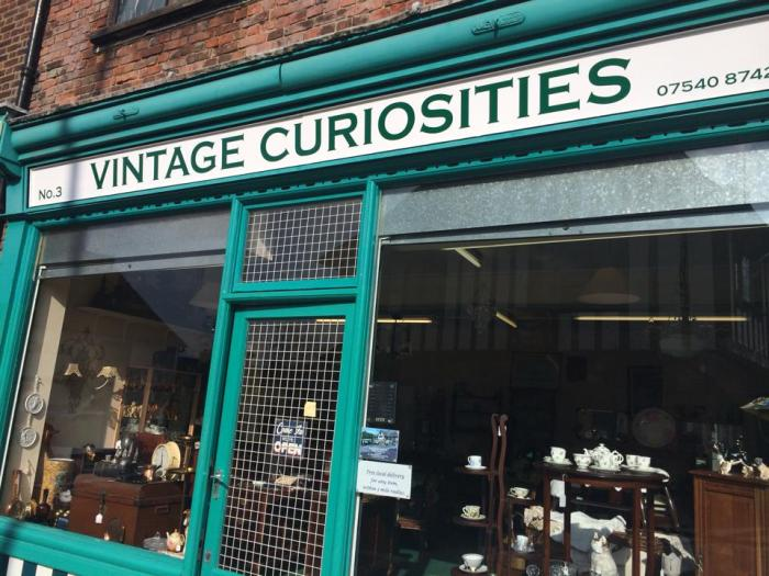 Vintage Curiosities antique shop in Sandwich, Kent