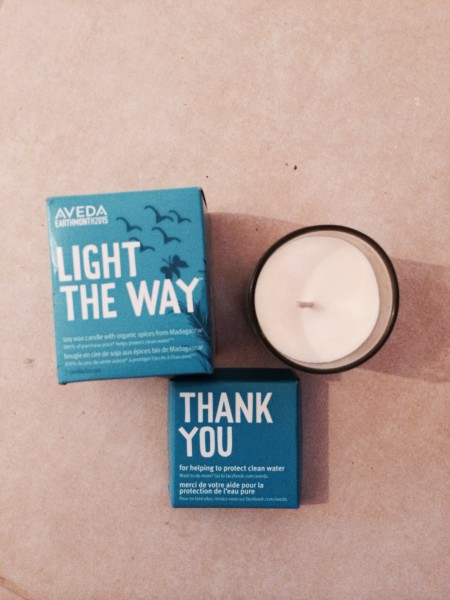 Aveda Light the way candle forEarth Month 2015