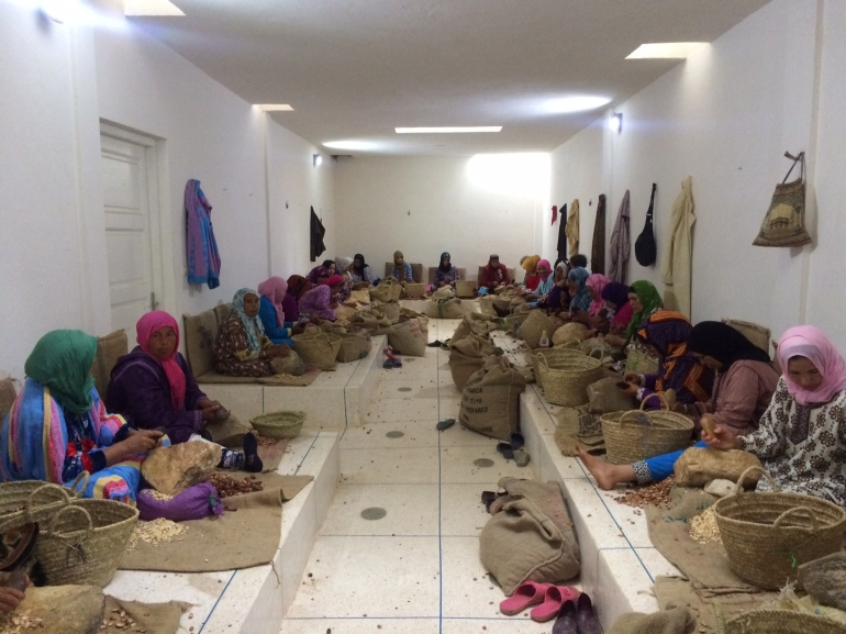 how fairtrade organic argan oil is made in morocco weleda sidi yassin womens cooperative2