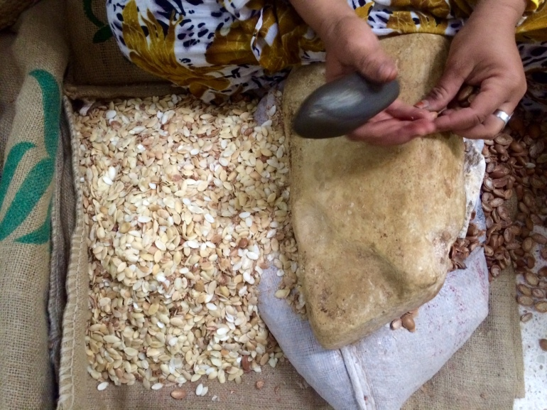 how fairtrade organic argan oil is made in morocco weleda stone