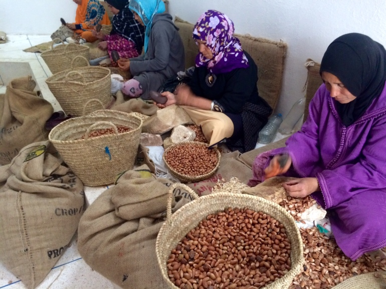 how fairtrade organic argan oil is made in morocco weleda women