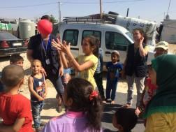 lebanon refugee camps volunteering salam children playing in settlement