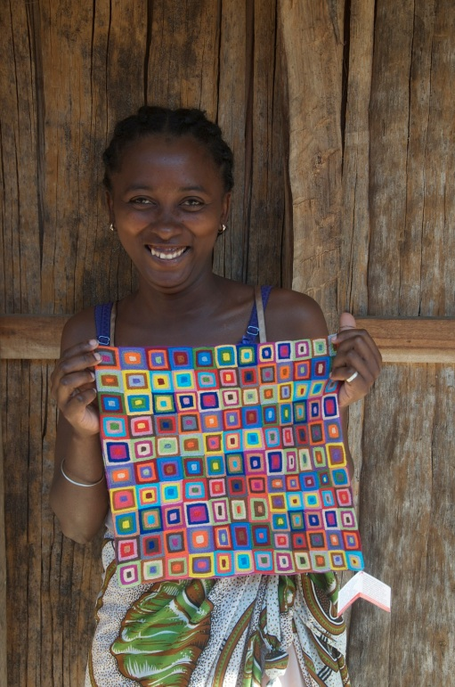 Madagascar Olga with cushion ethical gifts