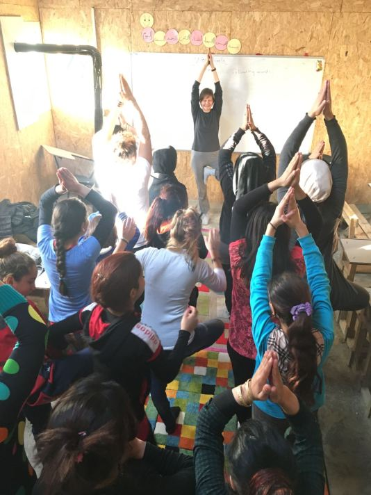 taking a yoga for refugees in lebanon tools for inner peace