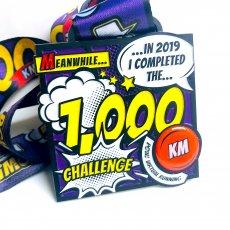 1000 KM challenge medal