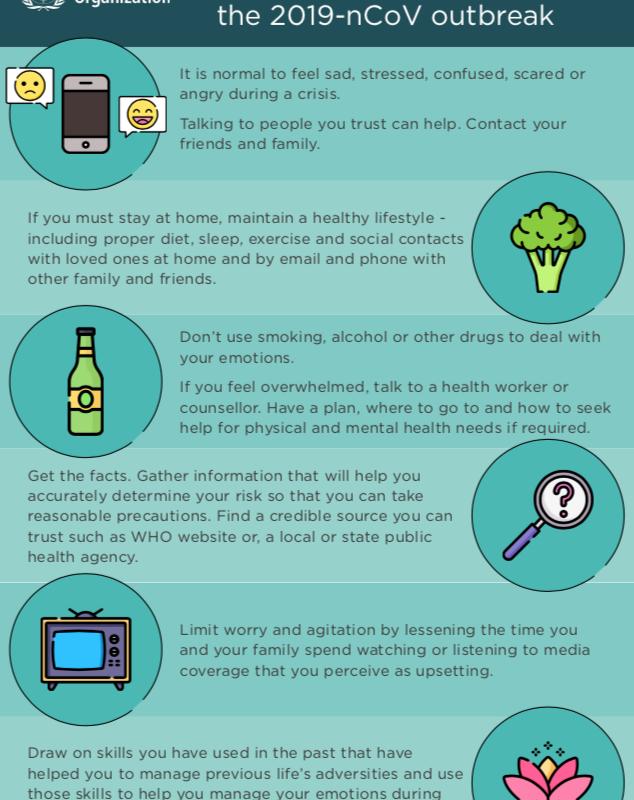 who coronavirus tips